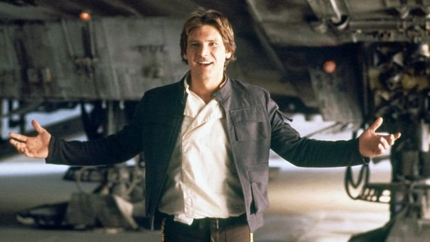 Harrison Ford mengenakan jaket di The Empire Strikes Back. (Getty Images)